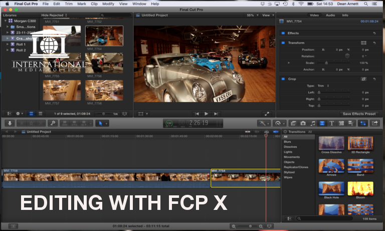 how to make a video collage on final cut pro